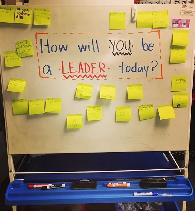 We love being leaders!! I'm so, so happy that I brought a teeny tiny bit of #leaderinme into my classroom this year. Between a day off Monday, field trip Tuesday, and half day guest teacher yesterday, this was the *perfect* way to start our Friday! Reminding one another that we are leaders and we got this. 💪🏻 #iteachsecond #iteach2nd #teachersfollowteachers #teachersofinstagram #morningmessage #miss5thswhiteboard #runningoutofmarkercolors