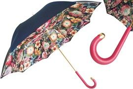 189 5E763-32 M17 - Navy Top Umbrella with Flowers inside