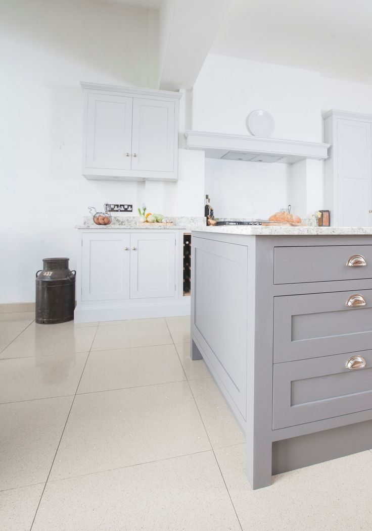 Chalkhouse Interiors - beautiful French inspired kitchen with Little Greene Paint Company Dark Lead island