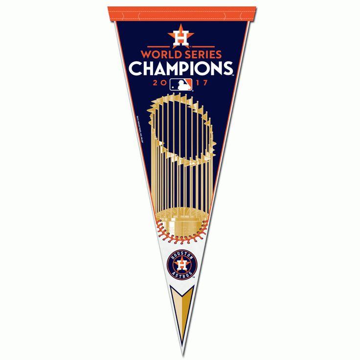 2017 MLB World Series Champions Houston Astros Baseball Pennant (RICO) #RicoIndustries #HoustonAstros