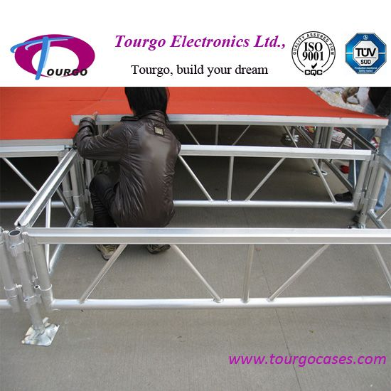 aluminum stage assembly