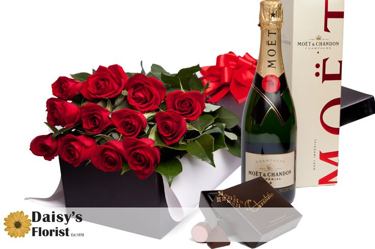 Daisy's Ultimate Indulgence- Roses, Chocolate and Moet... oh my!