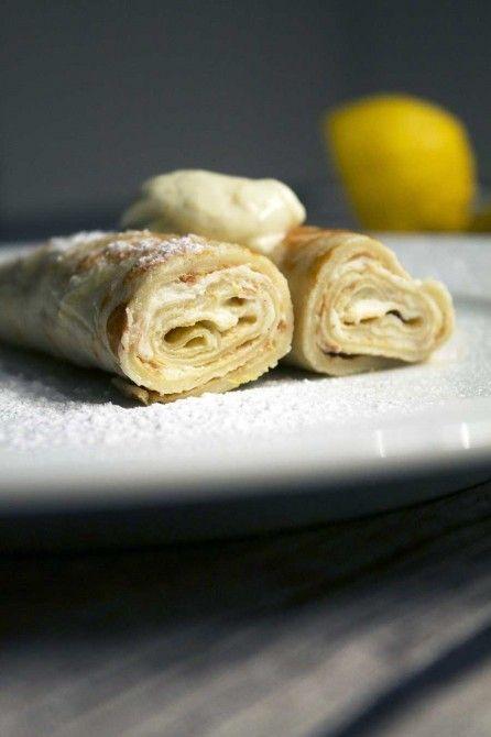 Pandekager med citron-mascarpone // Pancake with lemon mascarpone