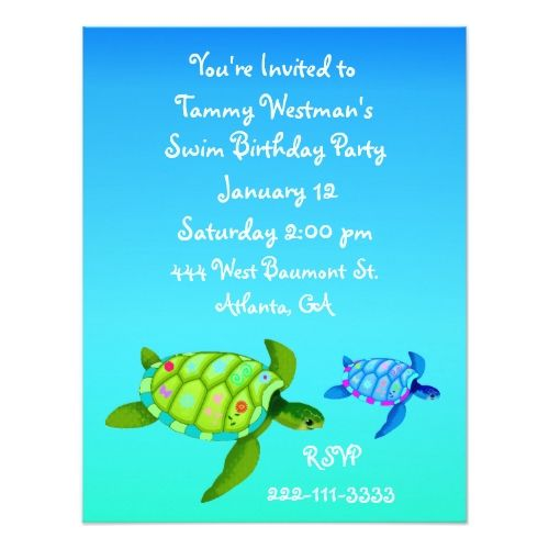 121 best turtle birthday party invitations images on pinterest turtles birthday invitation stopboris Images