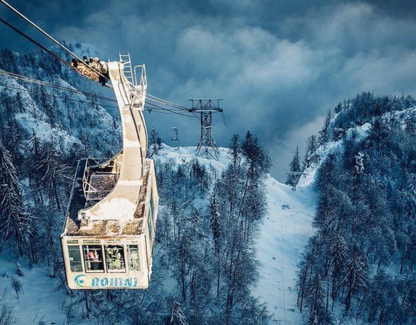 Slovenia Tourism (@SloveniaInfo) | Twitter - @igslovenia Feb 13 2016   Up, up & away! Vogel cable car, photo by /boruttrdina/ #slovenia #igslovenia