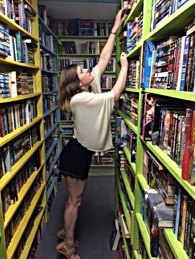 Lily at Red House Books in Dothan, Alabama