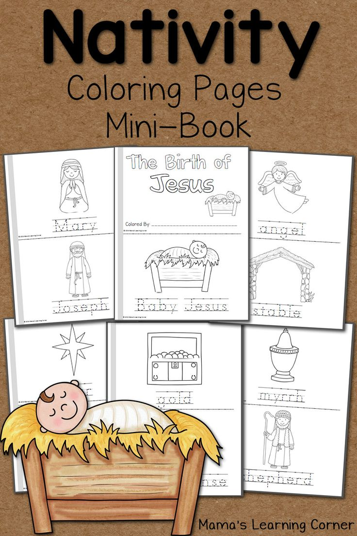 Download a 14-page set of Nativity Coloring Pages! Includes a cover page and an 'I can read' page for your young learner!