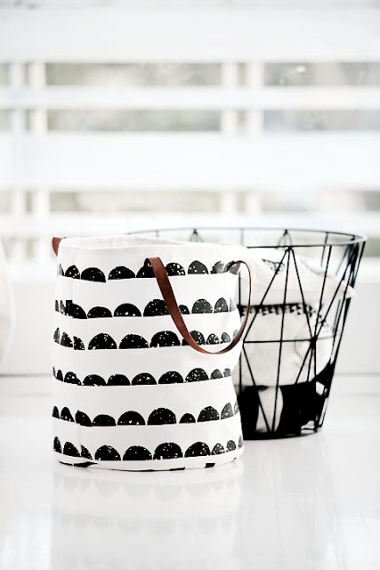 Via Forever Love Blog | Ferm Living Half Moon + Wire Basket