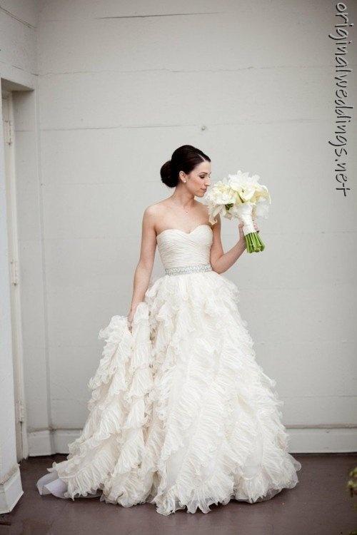 the bride. #wedding #gown #bouquet (found at http://originalweddings.net )