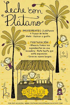 Cositas Ricas Ilustradas por Pati Aguilera: Leche con Plátano