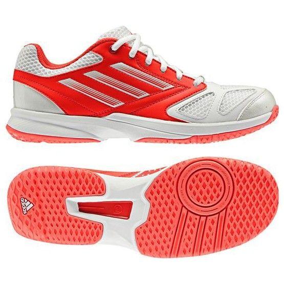 Adidas kézilabdás teremcipő Feather Team 2 unisex neon piros