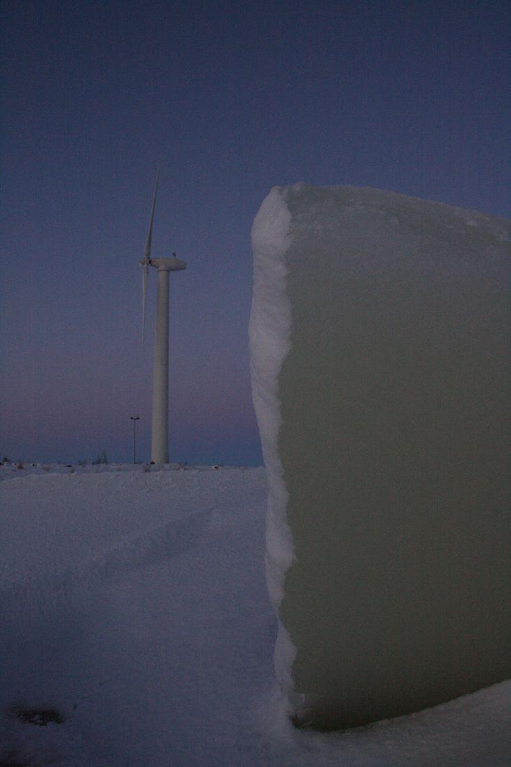 Wind turbine at Hailuoto, Finland