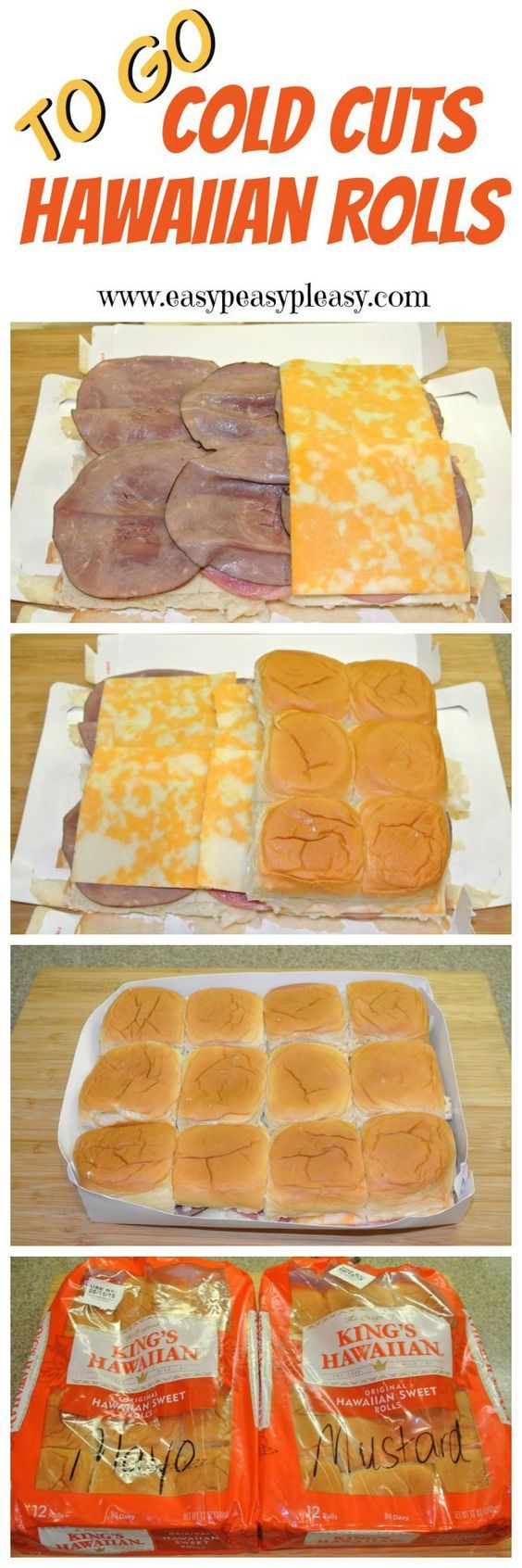 Easy to Make Ham, Roast Beef and Pastrami Sandwiches your cooler. Turkey, Chicken or Egg Salad would work great too.