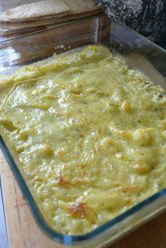 gratin dauphinois à la crème de courgette