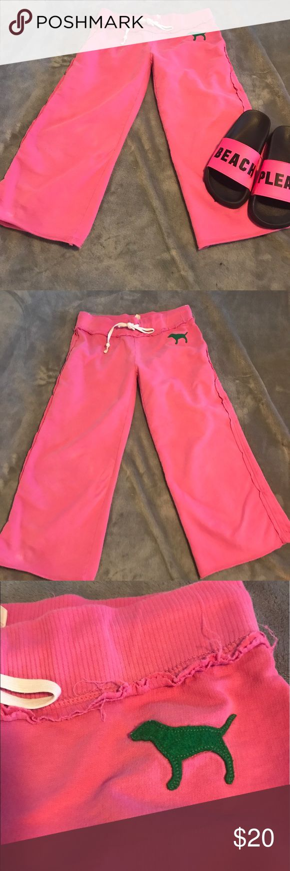 HUGE SALE PINK Victoria Secret size XS pants HUGE 1 DAY SALE ENDS TONIGHT. PRICE IS FIRM PINK Victoria Secret size XS pants. Nice pre loved condition from smoke free home. Last two pics show a few little white spots could most likely be removed in the wash. Shoes are for display only. Bin k PINK Victoria's Secret Pants