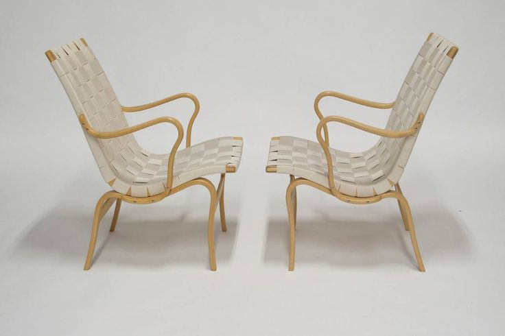 Bruno Mathsson Eva Chairs | From a unique collection of antique and modern armchairs at https://www.1stdibs.com/furniture/seating/armchairs/