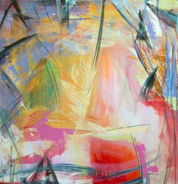 "Saatchi Art Artist Barbara Scott; Painting, ""moment to moment"" #art"