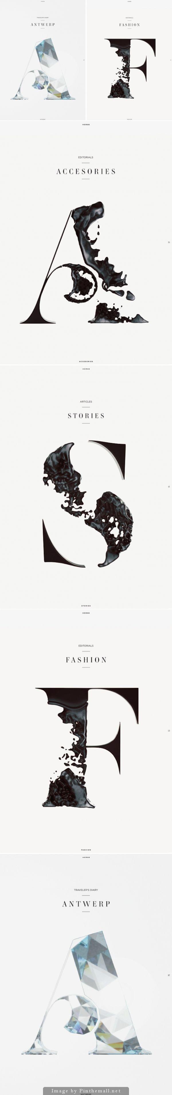 Horse Magazine Typography                                                       …