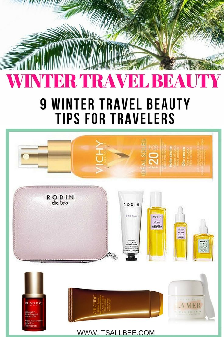 Best moisturizing lip balms, moisturizers, suncare for Winter travel. Click on the pin to read more about getting glowing and healthy skin as you travel. #beauty #travel #skincare #traveltips #blogger #inspiration #quotes