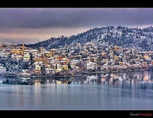 Kastoria winter postcard.