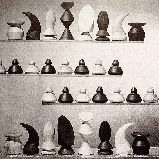 "MaxErnst, ""Wood Chess Set"", 1945"