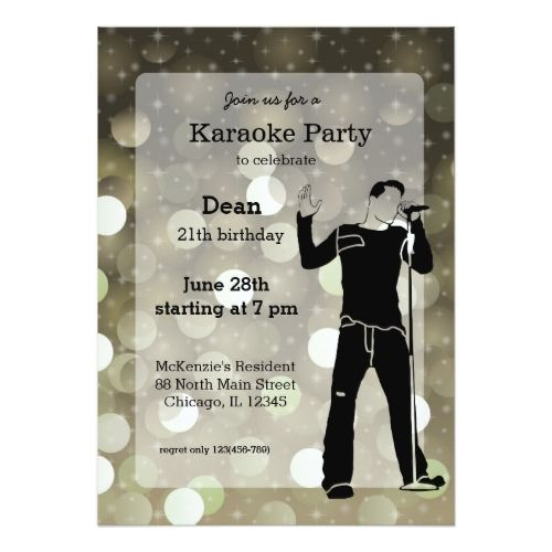 120 best karaoke birthday party invitations images on pinterest karaoke party card stopboris Gallery