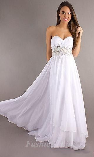 Prom dresses prom dresses prom dresses grade 12 grad for Flowy white wedding dress
