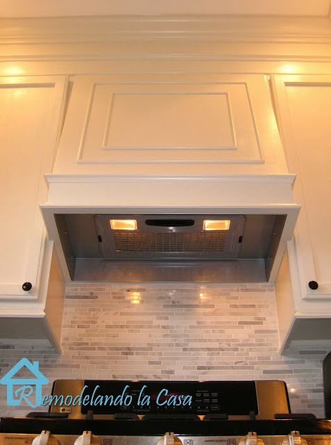 How to build a range hood, install molding and a thousand other amazing things she DIY'ed in her kitchen!!!
