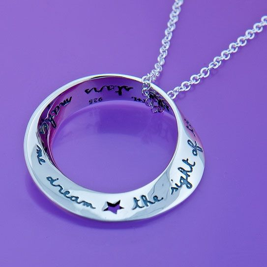 Van Gough Stars Necklace  - A Vincent Van Gogh quotation engraved: 'The sight of the stars always makes me dream'.
