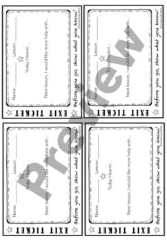 The Exit Ticket Collection - Generic