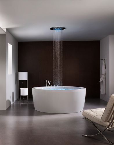 WOW with the rainfall shower in the middle of the tub!! Glorious