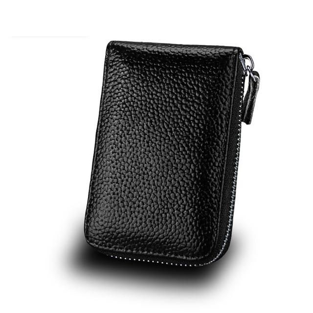 Hot Sale Genuine Leather Unisex Card Holder Wallets High Quality Female Credit Card Holders Women Pillow Card holder Purse