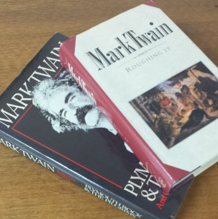 Mark Twain Books ~ Roughing It ~ Pilgrim Rock and the Pilgrims by FeeneyFinds on Etsy