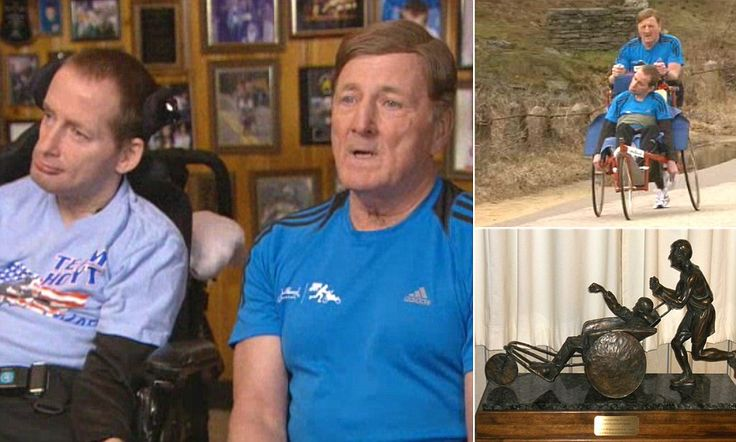 The devoted father who will push disabled son in round Boston Marathon... after more than a THOUSAND races as a team #idedicate #activprayer #EyesUPRiseUP