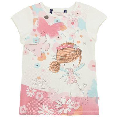 Souris Mini - Ivory T-shirt with a print - 74692