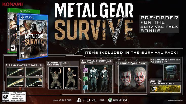 Metal Gear Survive release date Feb/20th 2018. Comes with pre order bonuses. Can't wait! #MetalGearSolid #mgs #MGSV #MetalGear #Konami #cosplay #PS4 #game #MGSVTPP