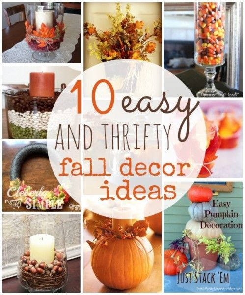 Frugal Home Decor: 10 Thrifty Fall Home Decor Ideas To Create