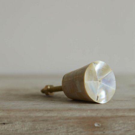 Mother Of Pearl Conical Door Knob | Door Knobs & Handles | Graham & Green