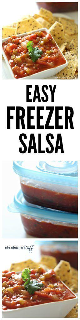 Easy Freezer Salsa from SixSistersStuff.com