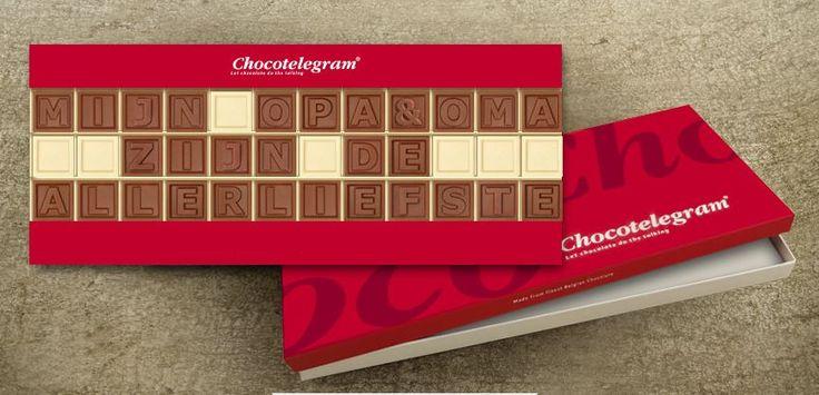 Zorg voor een origineel geschenk! Zeg het met chocolade, valt altijd in de smaak! Opa en Oma verwennen met CALLEBAUT chocolade