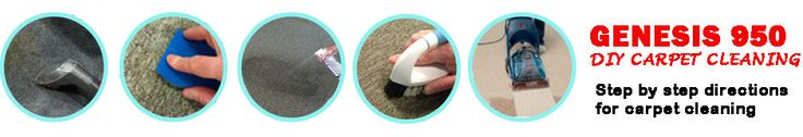 How to clean carpets. DIY carpet cleaning. Remove carpet stains with Genesis 950. Use as a spot cleaner for food, drink and other spills. Use as a carpet cleaning solution in machines for pet stains, traffic stains and deep cleaning.