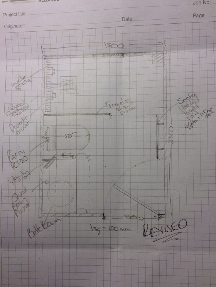 Revised, thinking about bringing vanity unit forward to enable shelving and/or built in mirror cabinet (will also align to front edge of toilet)