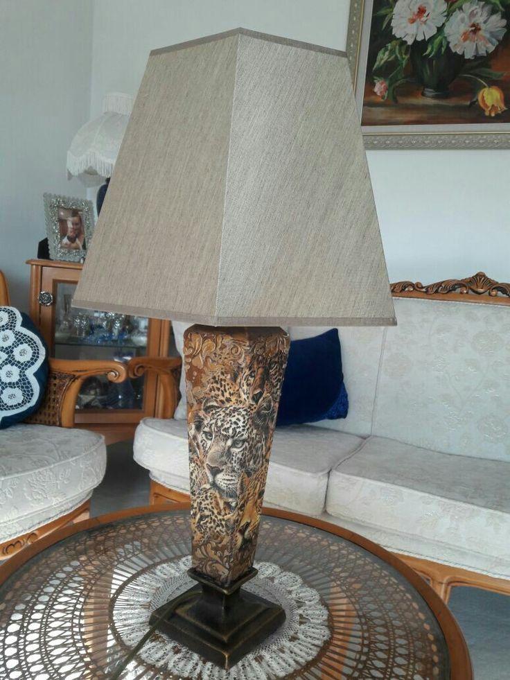 Abajur #Handmade #peçete #polyester.