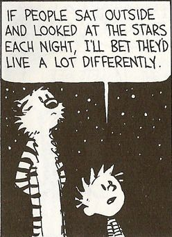 calvin & hobbes: look at the star... Reminded me of tonight and you asking me about the moon hahah @Jenna Turner