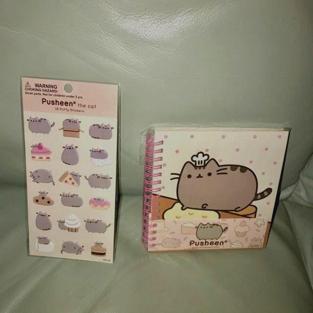 Pusheen : Spiral Notebook Journal & Puffy Stickers by Gund #Gund