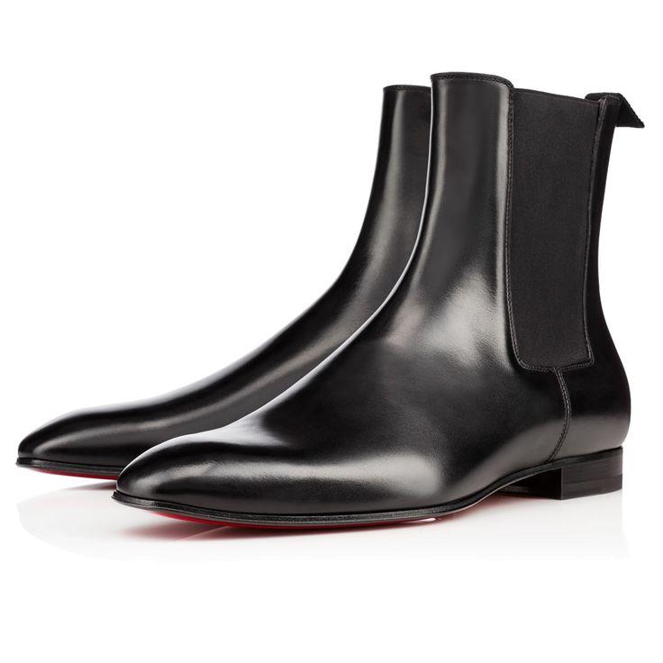 Roadie Flat Testa Di Moro Leather - Men Shoes - Christian Louboutin