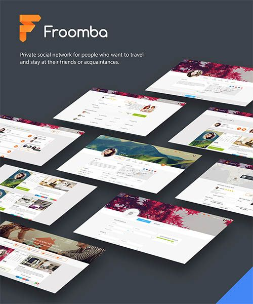 Froomba Social Network For Rent Apartments By Julia Savchuk Mobile S Ui Ux Design
