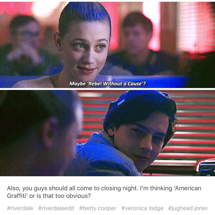 That smile though. Also can I just point out that's the movie he chose... #Riverdale #Jughead #Betty