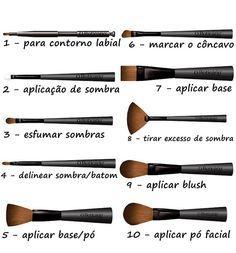 Dúvida Cruel: A função de cada pincel de maquiagem