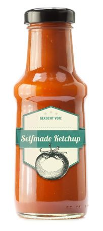 Fressbox Etiketten download für selbstgemachtes Tomaten Ketchup